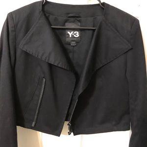61925701d Limited edition Y-3 Black women crop jacket
